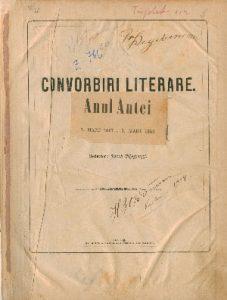 Convorbiri Literare 1868 227x300 JUNIMEA si revista CONVORBIRI LITERARE