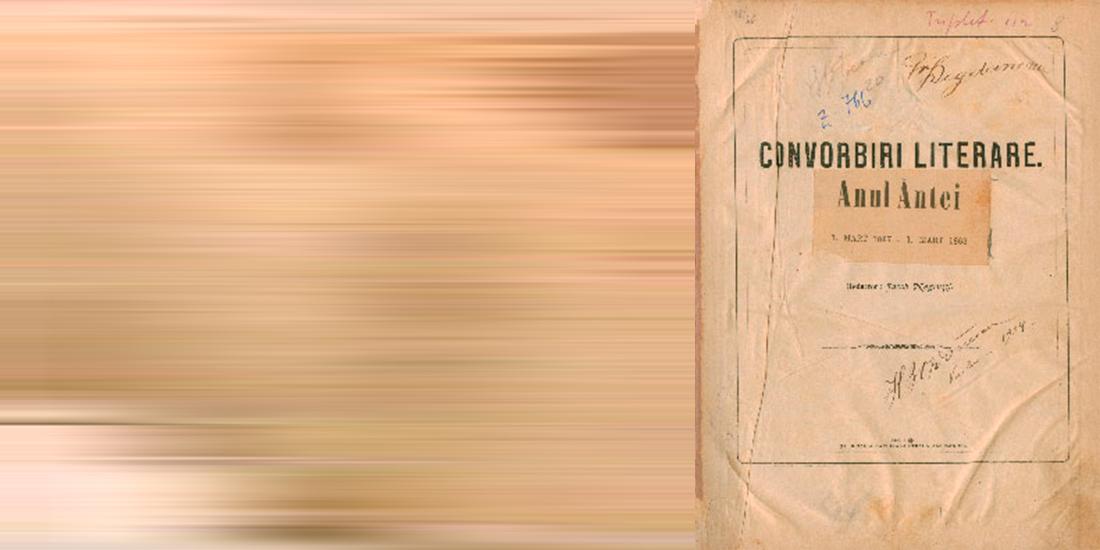 JUNIMEA si revista CONVORBIRI LITERARE