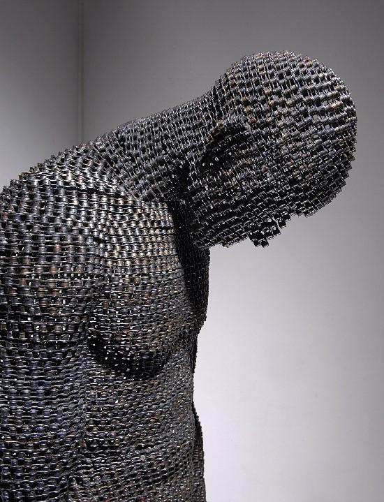Sculpturi din lanturi de bicicleta