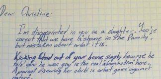 Scrisoarea unui bunic catre fiica sa homofoba