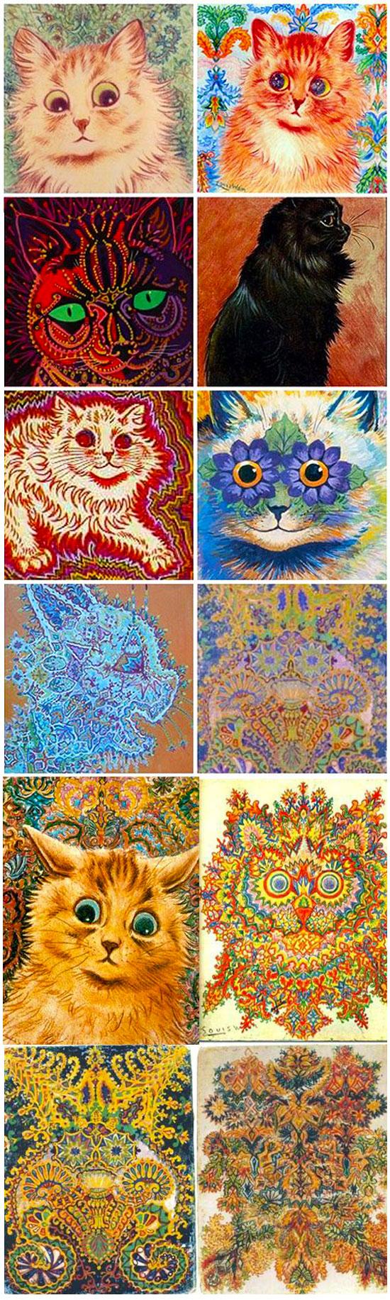 arta uluitoare a unui iubitor de pisici schizofrenic