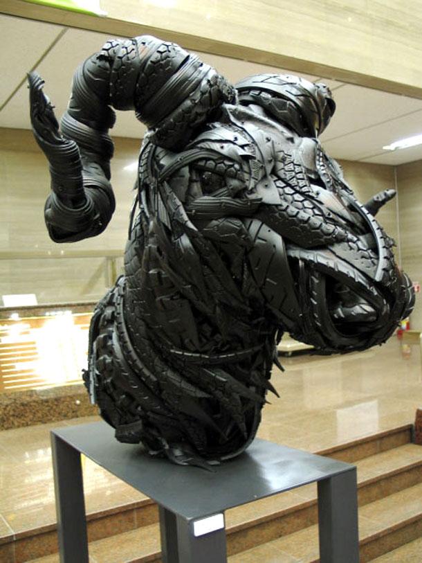 sculpturi din cauciucuri