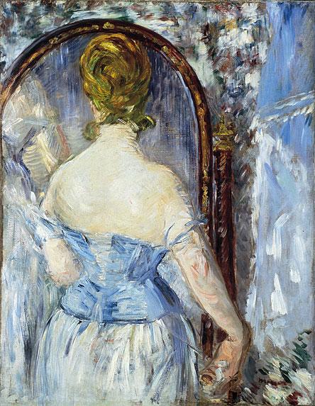 in fata oglinzii - Manet