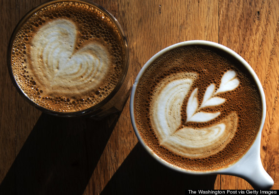 Coffee houses specialize in latte art