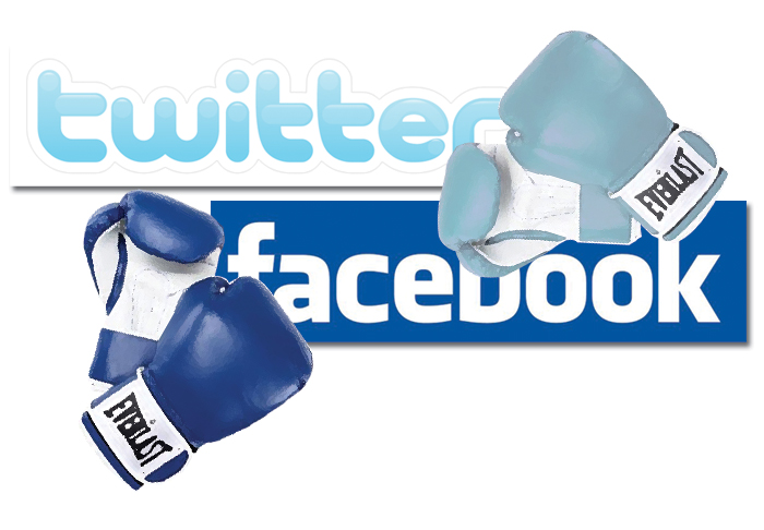 facebook vs twitter - razboiul social media