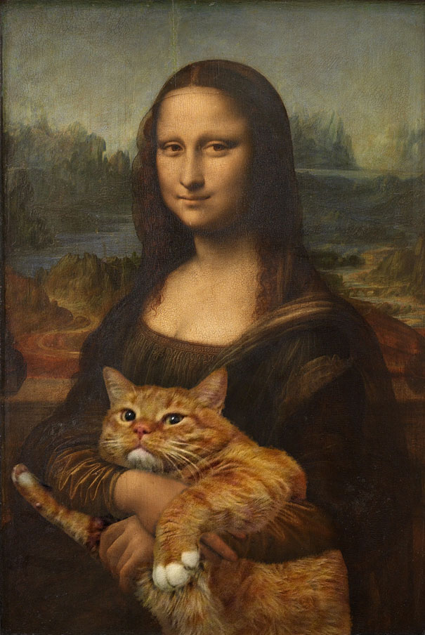 Mona Lisa - Fat Cat Art