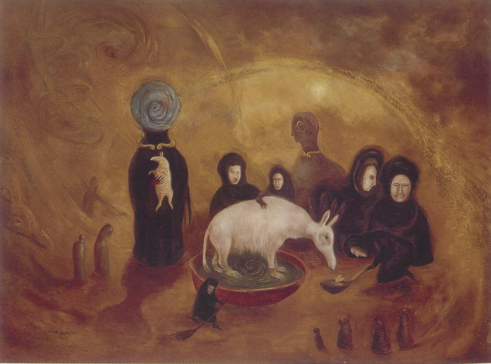 Aardvark Groomed by Widows, Leonora Carrington, 1997