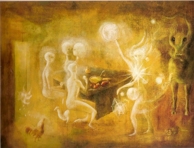 Sidhe The White People of Tutha d' Danaan, Leonora Carrington, 1954