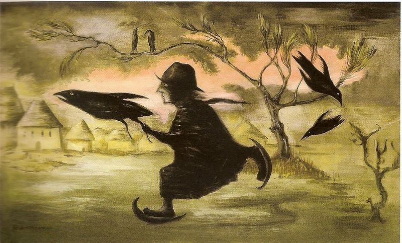 Leonora Carrington , The Crow Catcher, 1990
