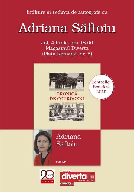 Cronica de Cotroceni Adriana Saftoiu lansare Diverta