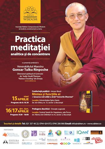 Maestrul Gonsar Tulku Rinpoche revine la Bucuresti in perioada 15 ? 17 aprilie 2016