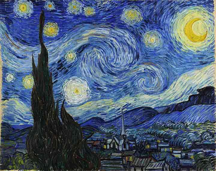 Noapte instelata -Van Gogh