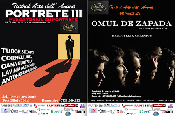 Program teatru Arte dell' Anima 19-21 mai