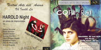 Program teatru Arte dell' Anima 26 - 28 mai