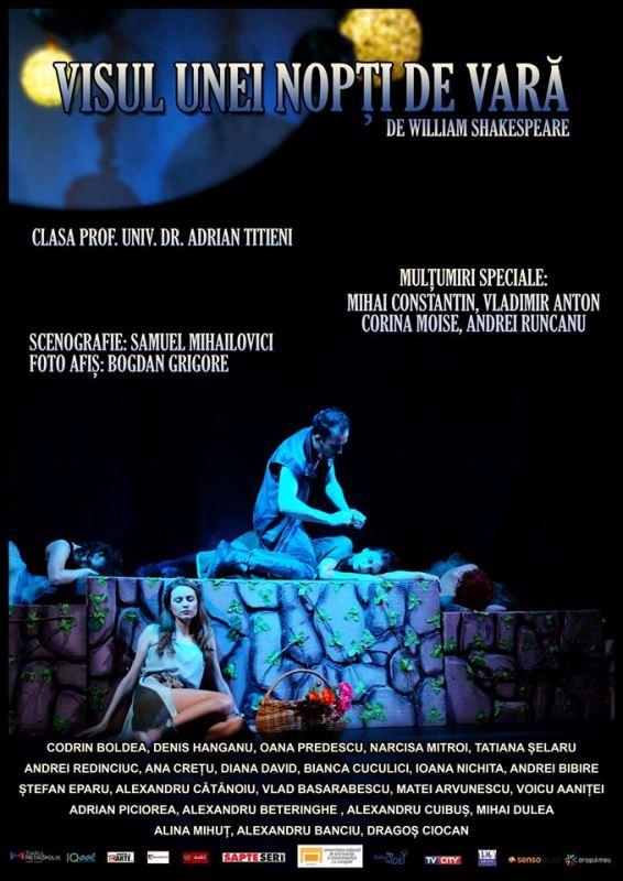 Visul unei nopti de vara, UNATC, evenimente culturale, teatru, invitatie teatru
