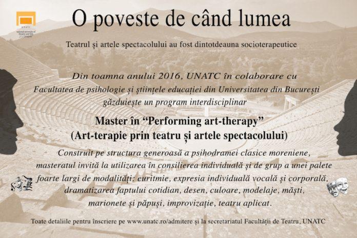 Concurs master Art-terapie la UNATC