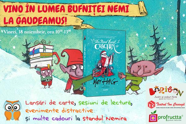Evenimente pentru copii in coltul editurii NEMI la Gaudeamus