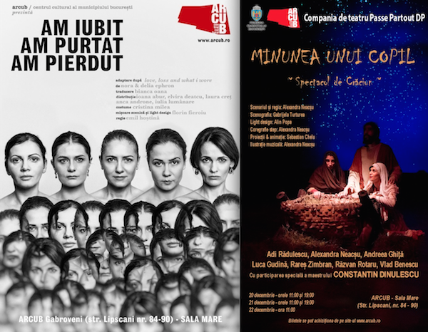 AGENDA SPECTACOLELOR DE TEATRU ARCUB 18 – 22 DECEMBRIE 2016