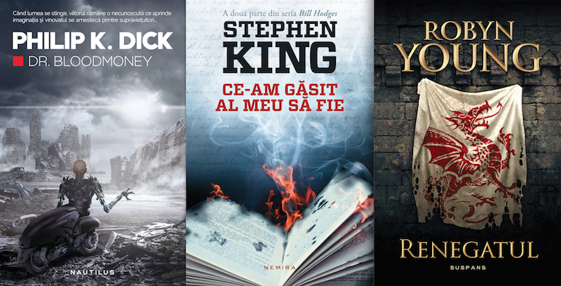 Noutati Nemira: Philip K. Dick, Stephen King & Robyn Young