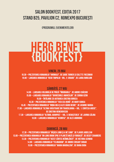 Evenimentele editurii Herg Benet la Bookfest 2017