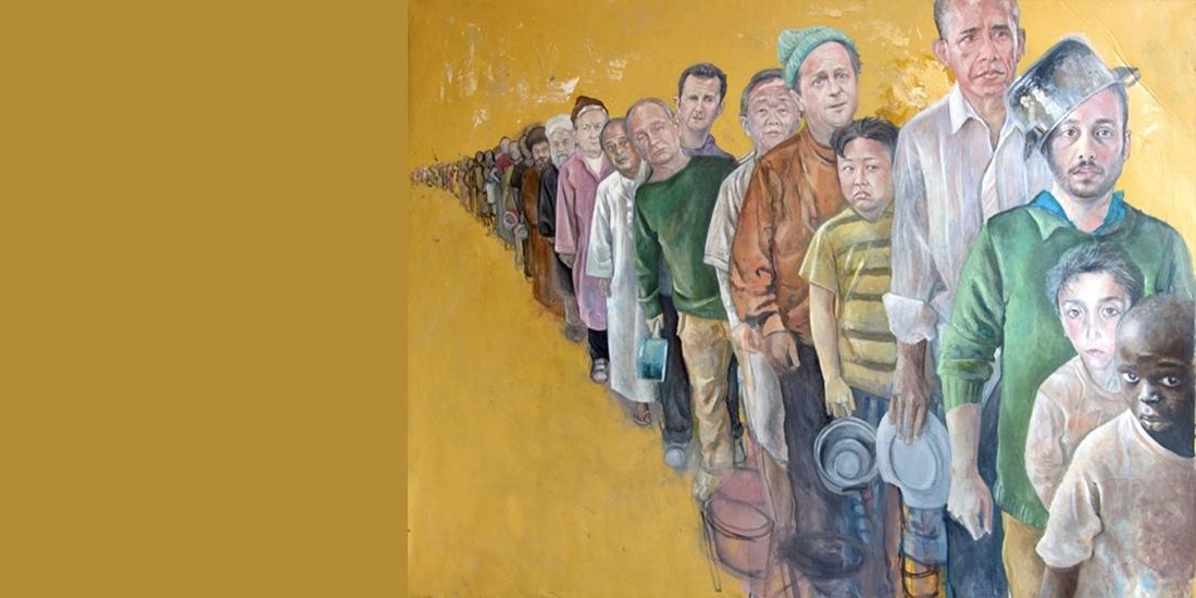 Lideri mondiali in pictura unui refugiat sirian