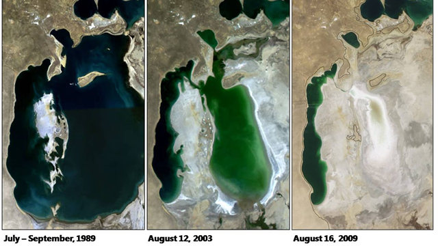 Micsorare Lacul Aral - dezastre ecologice