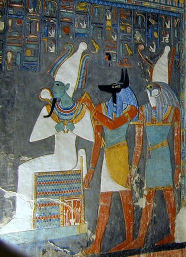 Zeii Osiris, Anubis si Horus, zei egipteni