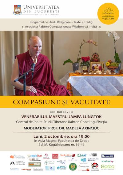 Conferinta publica cu Maestrul buddhist Jhampa Lungtok