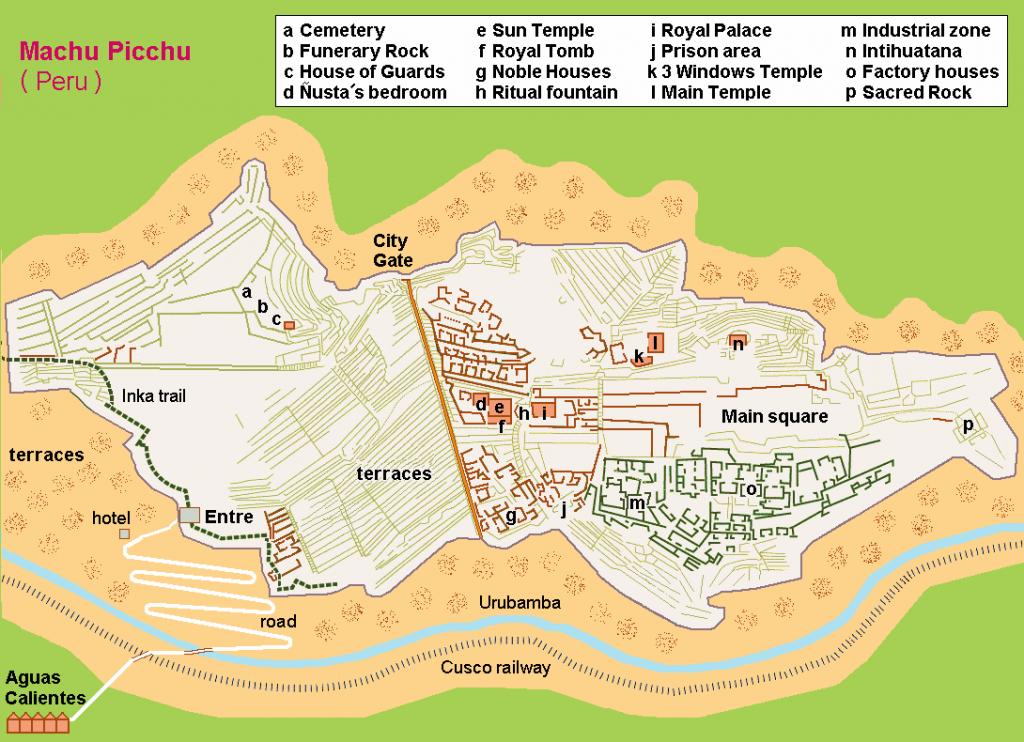 Harta Machu Picchu