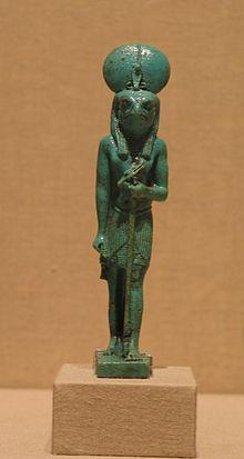 Statueta a lui Ra-Horakhty, 305-200 AD cultura generala educatie mitoligie egipteana