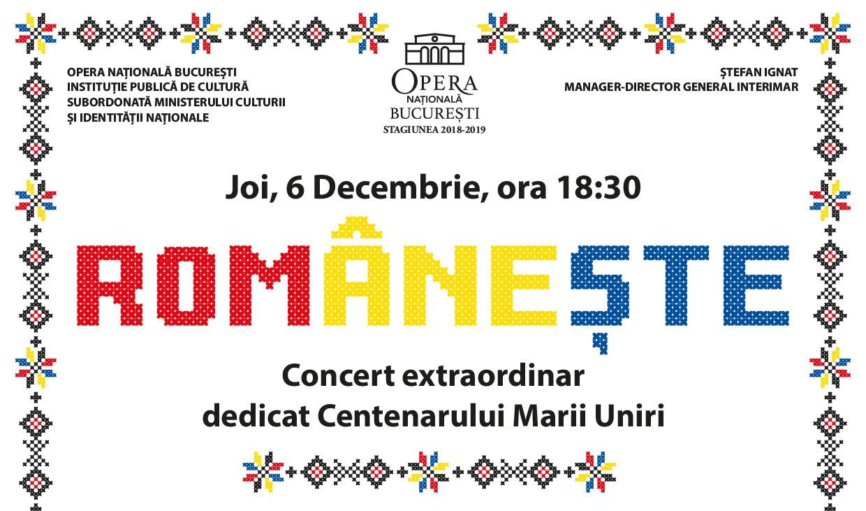 raftul cu idei Române?te concert Opera Nationala Marea Unire Centenar