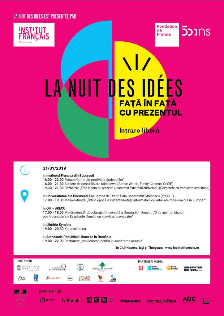 Noaptea ideilor 2019 Institutul Francez educatie Raftul cu idei