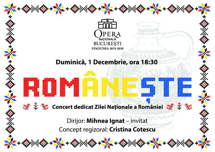 Românește concert Ziua Nationala opera Raftul cu idei